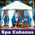 High-end canopy tents and spa cabanas