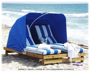 Beach Cabana (shown with cushions)